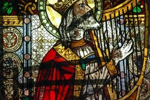 Król David stan przed konserwacją