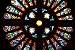 Konserwacja witraży w katedrze w Sosnowcu